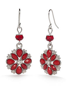 Kim Rogers® Silver-Tone Double Drop Earrings