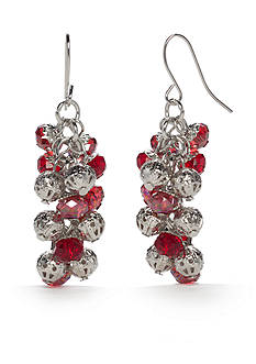 Kim Rogers® Silver-Tone Shaky Cluster Earrings