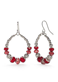 Kim Rogers® Silver-Tone Gypsy Hoop Earrings