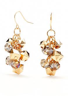 Kim Rogers Gold-Tone Purple Reign Shaky Pierced Ear Earrings
