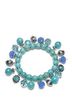 Kim Rogers Silver-Tone Geo Shells Shaky Stretch Bracelet