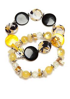 Kim Rogers Silver-Tone Sunny Days Stretch Bracelet Set