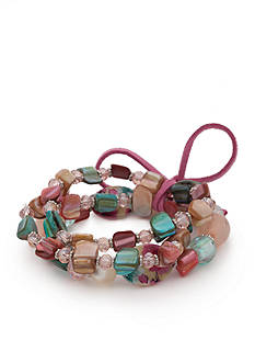Kim Rogers Silver-Tone Floral Meadow Bracelet