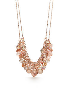 Kim Rogers Rose Gold-Tone Blushing Beauty Collar Necklace