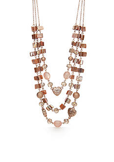 Kim Rogers® Rose Gold-Tone Blushing Beauty Multi-Strand Necklace