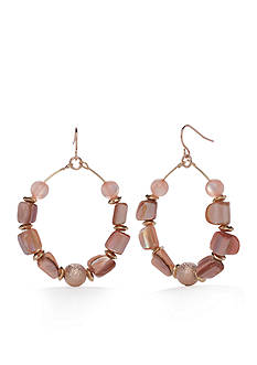 Kim Rogers® Rose Gold-Tone Blushing Beauty Gypsy Hoop Earrings