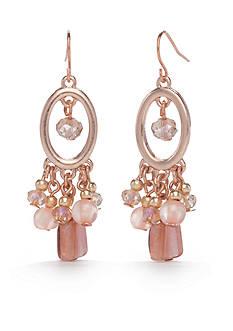 Kim Rogers Rose Gold-Tone Blushing Beauty Chandelier Earrings