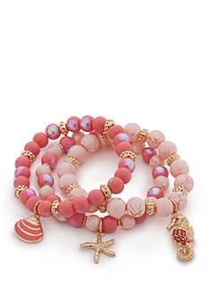 Kim Rogers Gold-Tone High Seas Stretch Bracelet Set