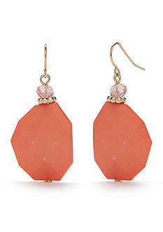 Kim Rogers Gold-Tone High Seas Coral Drop Earrings