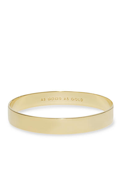 kate spade new york® Gold-Tone Idiom Bangle Bracelet