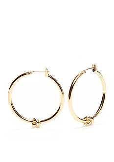 kate spade new york® Gold-Tone Knot Hoop Earrings