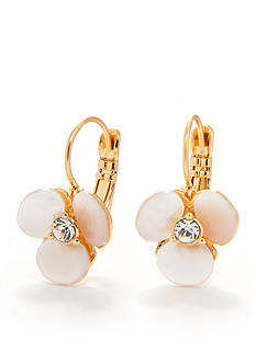 kate spade new york Disco Pansy Leverback Earrings