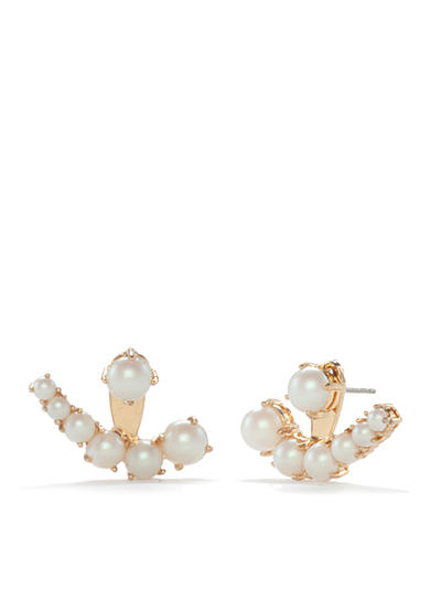 kate spade new york® Pearl Front And Back Earrings