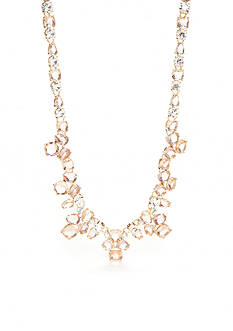 kate spade new york Make Me Blush Crystal Statement Necklace
