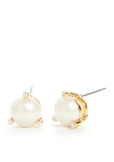 kate spade new york® Rise and Shine Pearl Stud Earrings