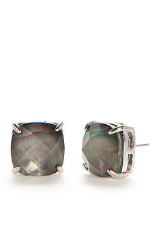 kate spade new york Silver-Tone Small Square Stud Earrings