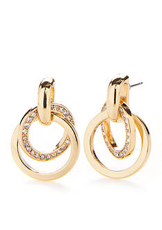 kate spade new york Gold-Tone Interlocking Circle Earrings