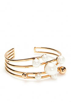 kate spade new york® Gold-Tone Bits and Baubles Cuff Bracelet