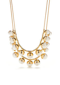 kate spade new york® Gold-Tone Double Strand Necklace
