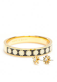 kate spade new york® Gold-Tone Mom Knows Best Bangle Bracelet and Stud Earrings Boxed Set