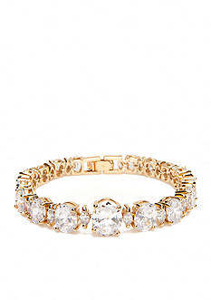 kate spade new york Gold-Tone Crystal Link Bracelet