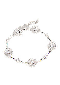 kate spade new york Silver-Tone Crystal Flower Bracelet