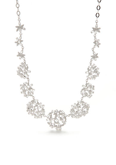 kate spade new york® Silver-Tone Crystal Ivy Collar Necklace