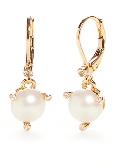 kate spade new york® Gold-Tone Lever Back Earrings