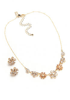 kate spade new york® Gold-Tone Mom Knows Best Floral Collar Necklace and Button Earrings Boxed Set
