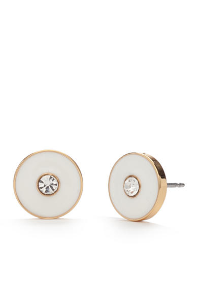kate spade new york® Gold-Tone Set In Stone Stud Earrings