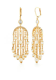 kate spade new york Gold-Tone Pearls of Wisdom Chandelier Earrings
