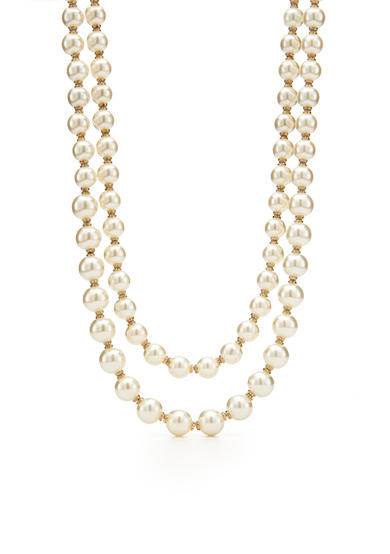 kate spade new york® Gold-Tone Pearls of Wisdom Multistrand Nekclace