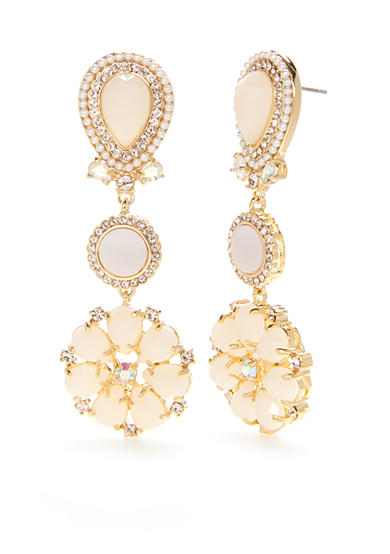 kate spade new york® Gold-Tone At First Blush Drop Earrings