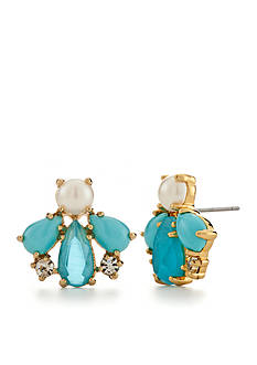 kate spade new york Gold-Tone Azure Allure Cluster Button Earrings