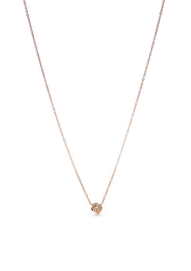 kate spade new york® Rose-Gold Infinity and Beyond Knot Pendant Necklace