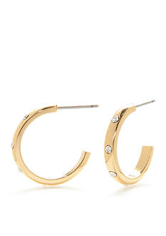 kate spade new york Gold-Tone Infinity & Beyond Small C Hoop Earrings