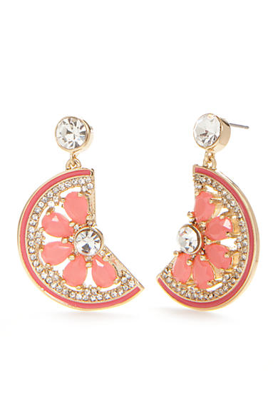 kate spade new york® Gold-Tone Out Of Office Grapefruit Drop Earrings