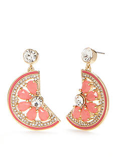 kate spade new york Gold-Tone Out Of Office Grapefruit Drop Earrings