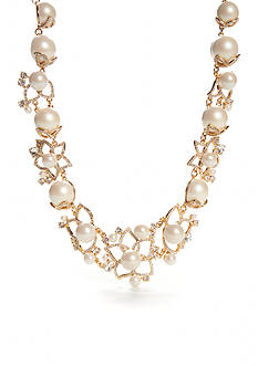 kate spade new york® Gold-Tone Pearl Bouquet Statement Necklace
