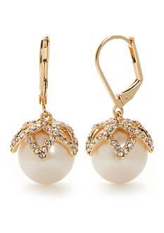 kate spade new york® Gold-Tone Pearl Bouquet Drop Earrings