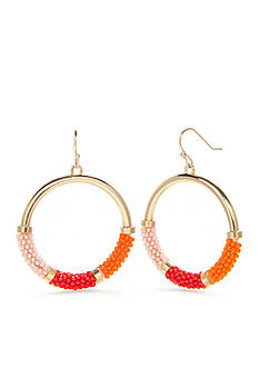 kate spade new york Gold-Tone That's a Wrap Hoop Earrings