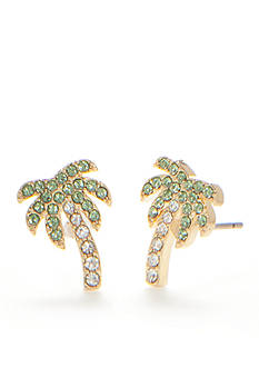 kate spade new york® Gold-Tone Out of Office Palm Tree Stud Earrings