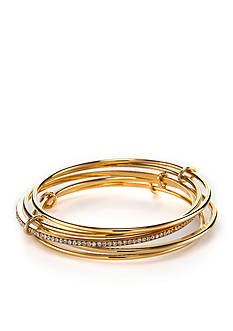 kate spade new york® Gold-Tone Stack Attack Bangle Bracelet