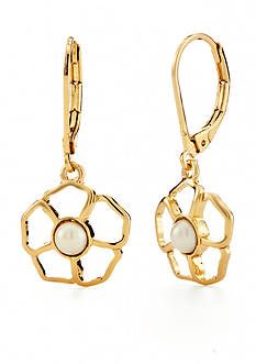 kate spade new york Gold-Tone Sunset Blossoms Drop Earrings