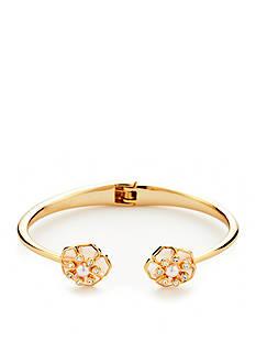 kate spade new york Gold-Tone Sunset Blossoms Hinge Bracelet