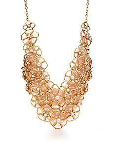 kate spade new york Gold-Tone Sunset Blossoms Statement Necklace