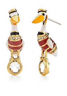 kate spade new york Gold-Tone Taking Flight Pelican Drop Earrings