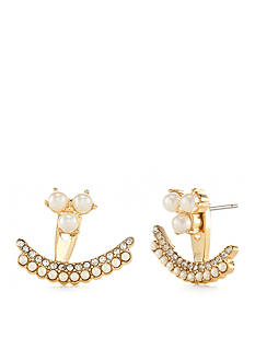 kate spade new york® Gold-Tone Dainty Sparklers Ear Jackets
