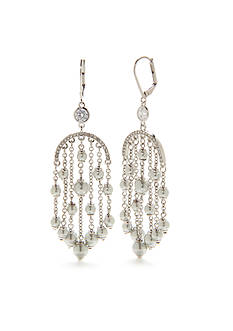 kate spade new york® Silver-Tone Pearls of Wisdom Chandelier Earrings