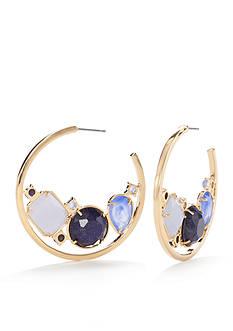 kate spade new york Gold-Tone C Hoop Earrings
